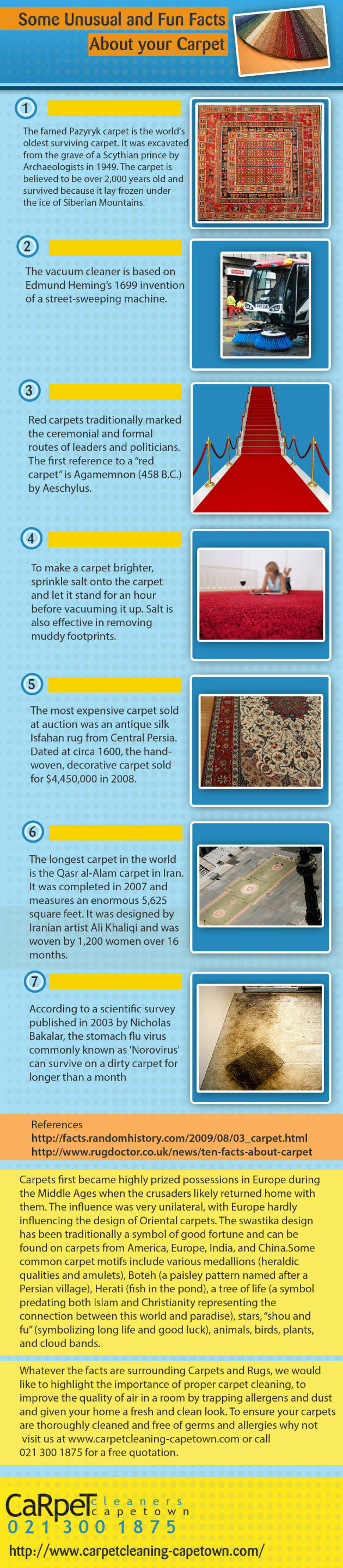Carpet Cleaning Cape Town Infographic